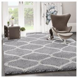Teppich Ein kuscheliger Hochflor Shaggy Teppich mit Maschen Muster, Vimoda 80 cm x 150 cm