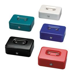 Herlitz Geldkassette groß, 20,5 x 15 x 7,5 cm, Geldaufbewahrungbox ist der ideale Aufbewahrungsort für Bargeld, 1 Stück, farbig sortiert