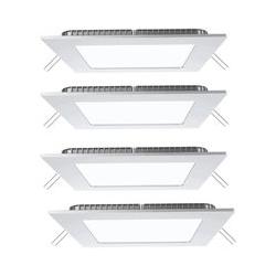 4er Set LED Panels in weiß zur Deckenmontage VT-307