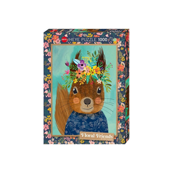 Huch! Puzzle Puzzle Sweet Squirrel, Floral Friends by Mia, Puzzleteile