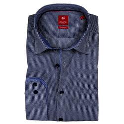 Pure Hemd PURE Hemd Slim Fit, Muster blau-weiß 3579-154-178 langarm
