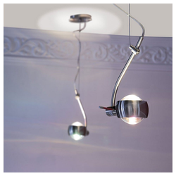 s.LUCE Pendelleuchte Beam mit Glaslinsen drehbar