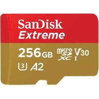 SanDisk 256GB Extreme MicroSDXC UHS-I Speicherkarte - C10, U3, V30, 4K, A2, Micro SD - SDSQXA1-256G-GN6MN