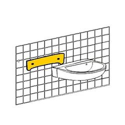 Handwaschbecken-Schallschutzset bis 550 mm, best. aus Schalldämmprofil 5 mm stark