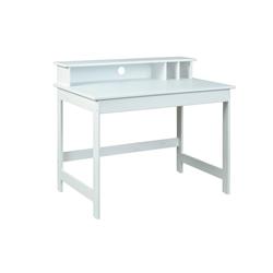 ebuy24 Schreibtisch Hirsa Schreibtisch mit 3 offenen Fächern weiss lac