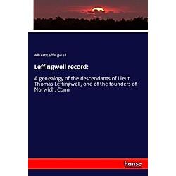 Leffingwell record:. Albert Leffingwell  - Buch