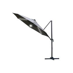 Outsunny Sonnenschirm Sonnenschirm mit LED Lichter grau