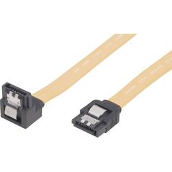 Renkforce SATA II (300) Kabel L-Typ mit kurzem Stecker 1x gewinkelt 1m