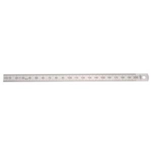Helios Preisser Biegsamer Stahlmaßstab Teilung 1/2 mm 500 x 20 x 0.5 mm