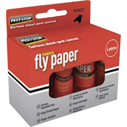 PEST STOP Fly Paper PSFP Fliegenfalle 4St.