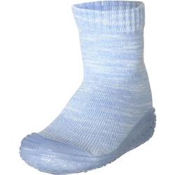 Playshoes Hausschuh Strick bleu