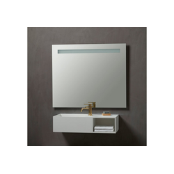 Badspiegel Lökken, Breite 100 cm weiß