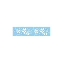 Rayher Dekor-Schablone Blätter-Bordüre blau