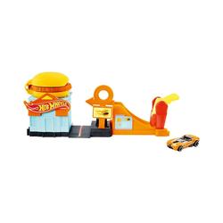Mattel® Spielzeug-Auto Hot Wheels Hamburger-Stunt Spielset inkl. 1