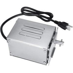Haofy Auger Grillmotor Rotierender Grillmotor aus Edelstahl(US Plug 220V)