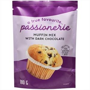 Passionerie - Muffin-Mischung mit Dunkler Schokolade, 180 g (12er-Pack)