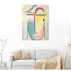 Posterlounge Wandbild, Abstrakter Kopf, durchdringendes Licht 100 cm x 130 cm