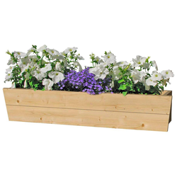Outdoor Life Products Blumenkasten, 90 cm, Fichtenholz