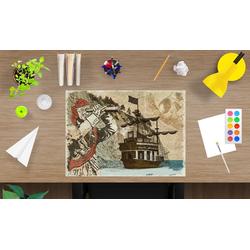 cover-your-desk.de Schreibtischaufsatz Schreibtischunterlage für Kinder - Pirat - 60 x 40 cm – aus hochwertigem Vinyl, (1-St)