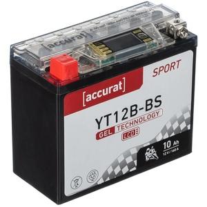 Accurat Sport GEL LCD YT12B-BS Motorradbatterie 10Ah 12V (DIN 51015) YT12B-4 YG12B-4