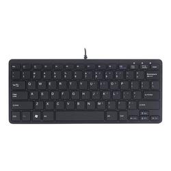 R-Go Compact Tastatur, QWERTY (US), weiß, drahtgebundenen