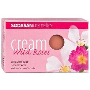 Organic Wild Rosa Cream Soap, 3 x 100 g
