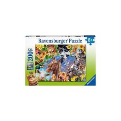 Ravensburger Puzzle Puzzle Lustige Bauernhoftiere, 200 Teile, Puzzleteile