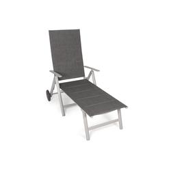 VANAGE Gartenliege VA-6910 Sonnenliege klappbar, grau