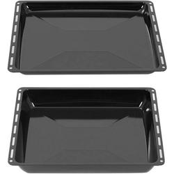 ICQN Backblech 445 x 375 x 25 mm Fettpfanne für Backofen, Emaille, (2-St) 44.5 cm x 2 cm
