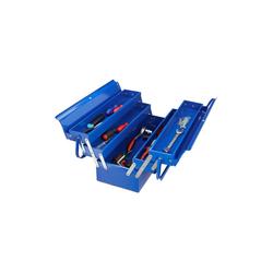relaxdays Werkzeugkoffer Werkzeugkoffer leer blau