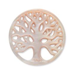 Münze für Münzanhänger Baum rosa