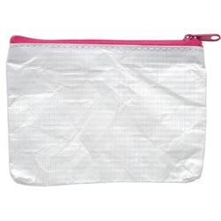Reißverschlusstasche A7 PE-Vlies pink
