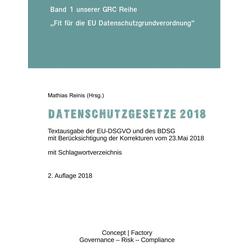 Datenschutzgesetze 2018 als Buch von