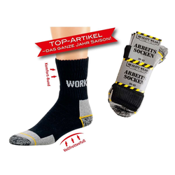 Socks 4 Fun Arbeitssocken Arbeitssocken (3-Paar, 3 Paar) 47-50