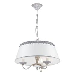 click-licht Kronleuchter Kronleuchter Bouquet 3xE14 aus Metall in Grau, Kronleuchter grau