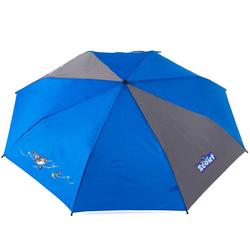Scout Taschenregenschirm, mit Reflektorband blau