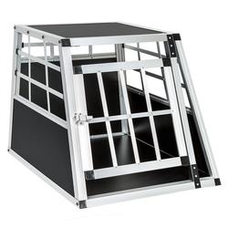 tectake Tiertransportbox Hundetransportbox single mit gerader Rückwand 54 x 69 x 50 cm - 69.0 cm x 50.0 cm x 54.0 cm
