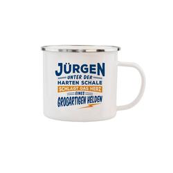 HTI-Living Becher Echter Kerl Emaille Becher Jürgen, Emaille
