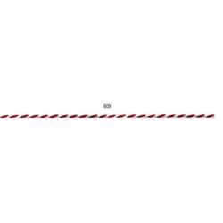 Kordel   2 mm x 50 m, rot/weiß
