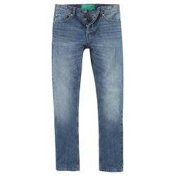 United Colors of Benetton 5-Pocket-Jeans mit Knopfleiste blau 38