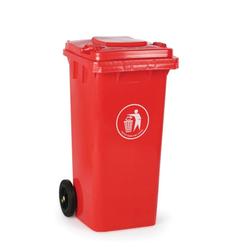 Kunststoffmülltonne 120 liter, rot