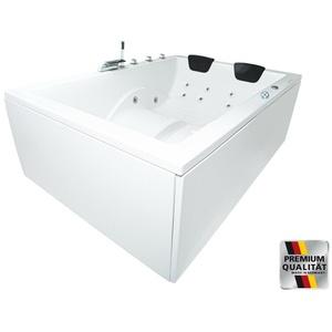 XXL Whirlpool Badewanne für 2 Personen opt HEIZUNG Ozon freistehend od. Eckwanne