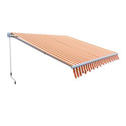 Alu Markise rot beige 3 x 2,5 m Gelenkarmmarkise Sonnenschutz Sichtschutz