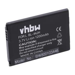 vhbw Smartphone-Akku passend für LG Optimus Zone 2, P700 Optimus, P705G Optimus, P705 Optimus, P750 Optimus Mobilfunk (1200mAh, 3,7V, Li-Ion) 1200 mAh