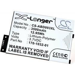 Powery Powerakku für Amazon Typ 170-1032-01, 3,7V, Li-Polymer
