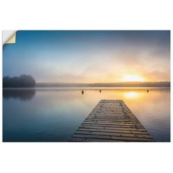 Artland Wandbild Sonnenaufgang am See, Sonnenaufgang & -untergang (1 Stück) 120 cm x 80 cm