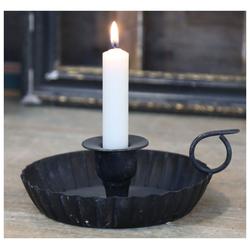 Chic Antique Kerzenhalter Chic Antique - Kammerleuchter Metall Schwarz (64203-24) Kerzen- Halter Ständer