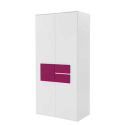 Schlafzimmer Kleiderschrank in Weiß Pink modern