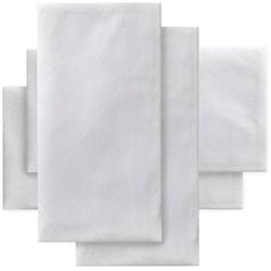 DDDDD Stoffserviette Rhomus, (Set, 4 St.), Damast, 50x50 cm weiß Stoffservietten Tischwäsche