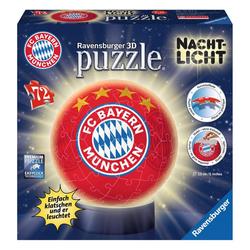 Ravensburger 3D-Puzzle FC Bayern München, Puzzle-Ball, Nachtlicht, 72 Puzzleteile